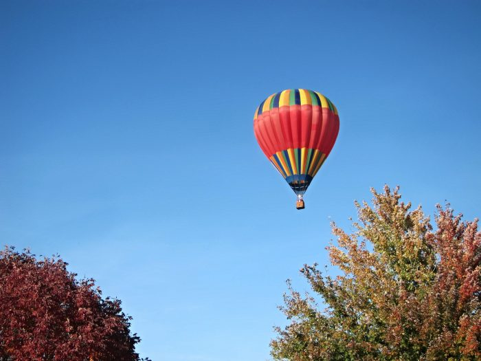 11. On a hot air balloon ride