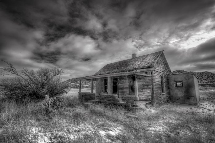 1. The photographer didn't share the location of this house, but his technique certainly creates a mood of unease, as if something big is about to happen.