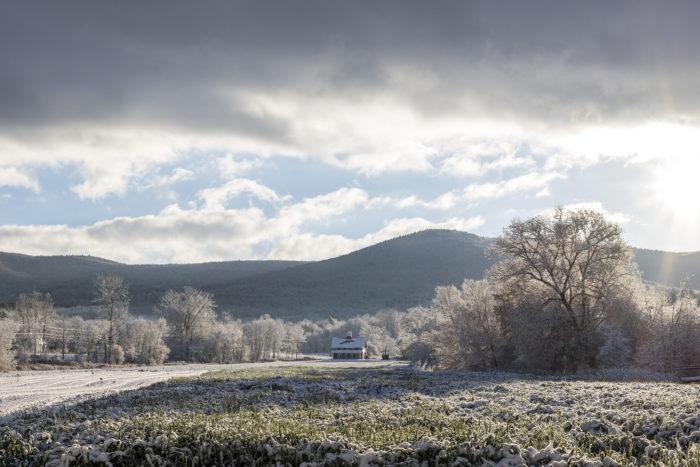 11.  First snowfalls of the season.
