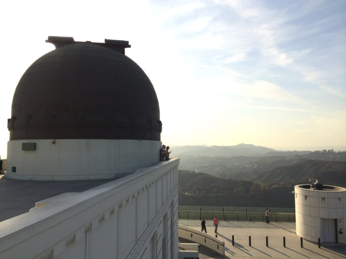9. Living on the edge at one of the lookout points at Griffith Park Observatory.