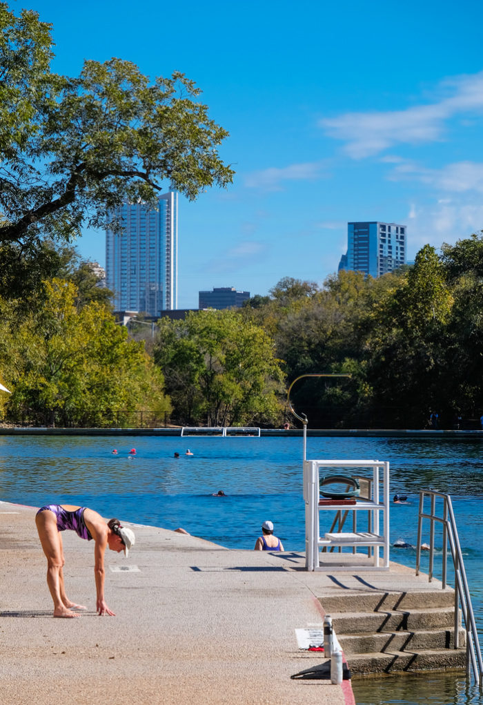 12. The view from Barton Springs Pool of the city...Get a swim in and get your amazing photos in.