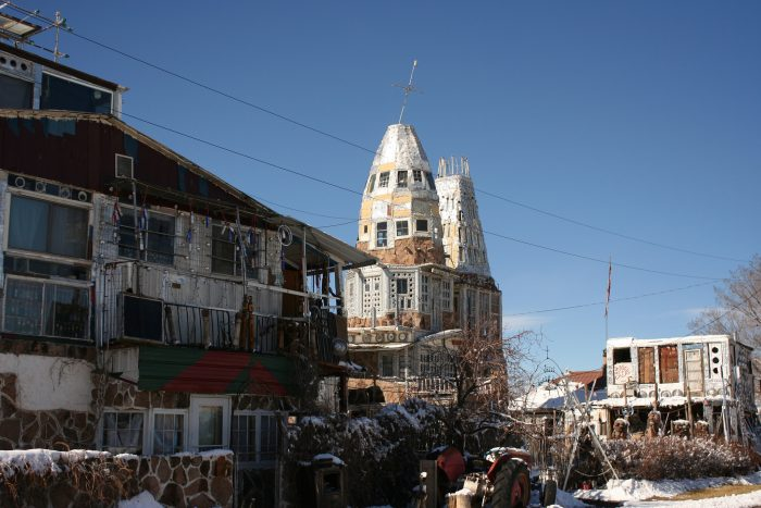 Built primarily of beer cans and other recyclables, Cano's Castle is a four tower masterpiece that was constructed entirely by Vietnam veteran Donald Espinoza.
