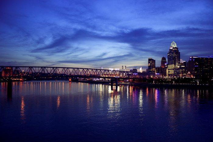 17. Twilight looks stunning on Cincinnati.