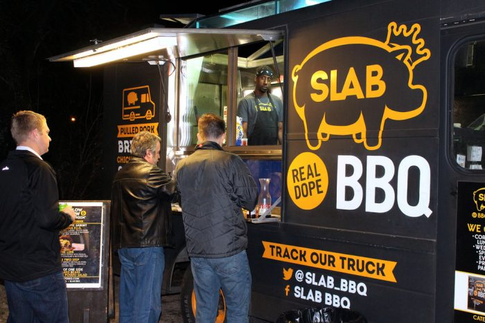 1. Slab BBQ not only has a brick and mortar shop - Lucky for you they've got their tasty BBQ on wheels too!
