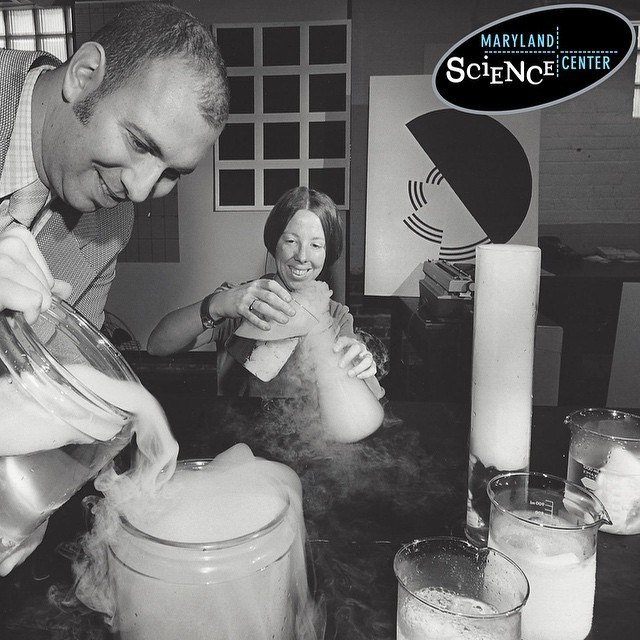 14. An education team at the Maryland Science Center testing experiments in the 1950s.