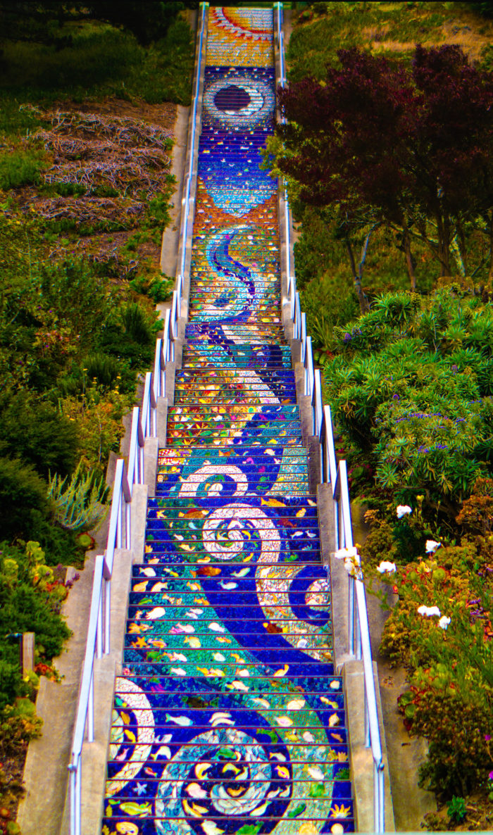 6. Golden Gate Heights (16th Avenue) Mosaic Stairway and Grandview Park