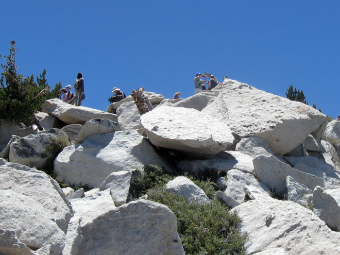 6. Don't look down! This view near one of the summits in the San Bernardino mountains might give you a fright if you're afraid of heights.