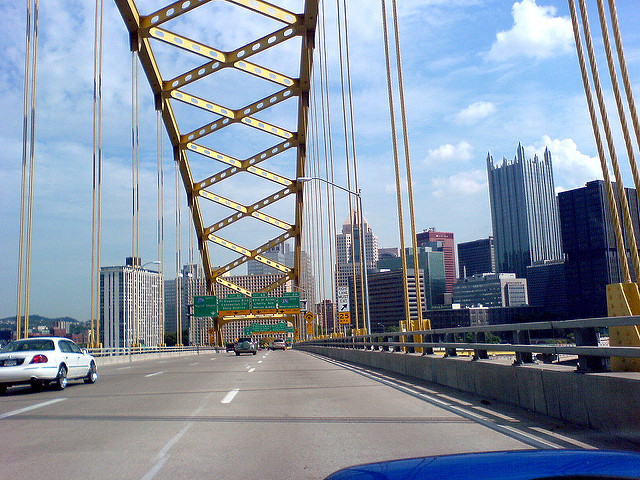 20. The view of the city coming out of the Fort Pitt Tunnels.