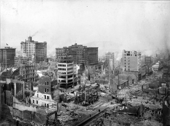 8. It was the fires after the 1906 earthquake that caused the most death and destruction—not the shaking itself.