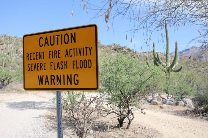 7. Flood areas, especially flash flood zones.