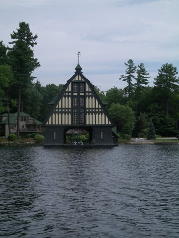 3. We are dying to go inside this boathouse in Gilford.