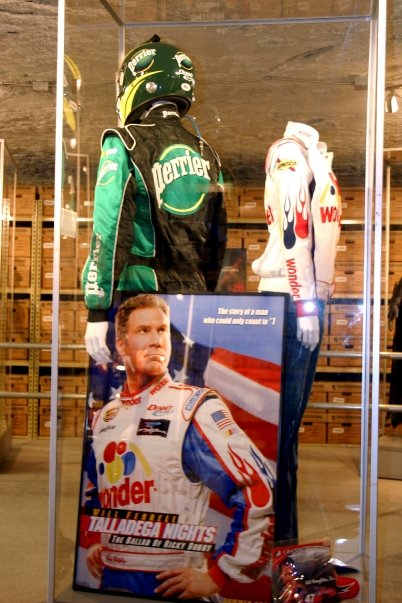 """...and even a few costumes from the Will Ferrell comedy, """"Talladega Nights."""""""