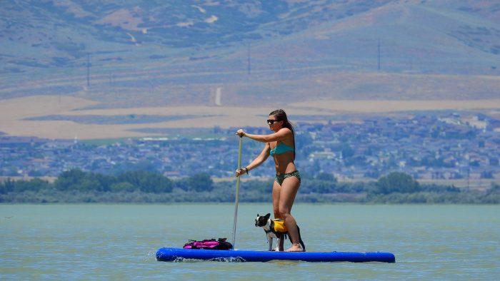 2. Try paddleboarding at Utah Lake.