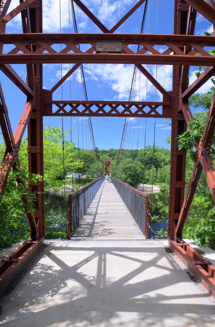2. The Androscoggin Swinging Bridge, Brunswick / Topsham