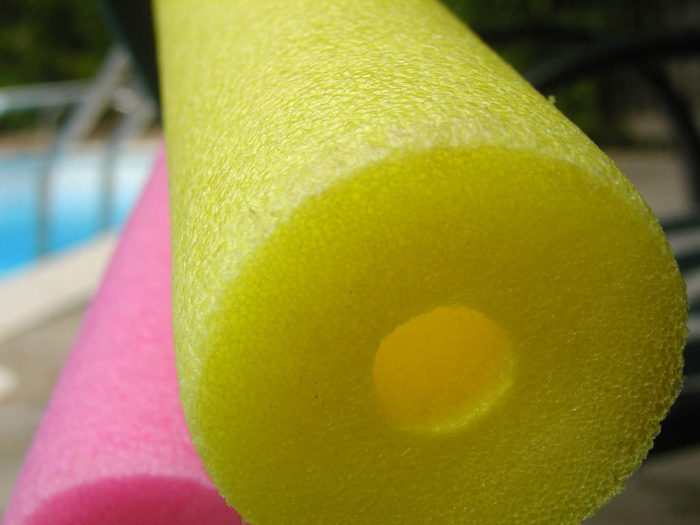 5. Slice a pool noodle into rings and hollow out to make floating drink cozies.