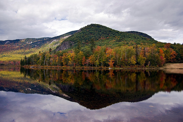 2. This photo captures perfectly the pristine New Hampshire wilderness, of water and forest.