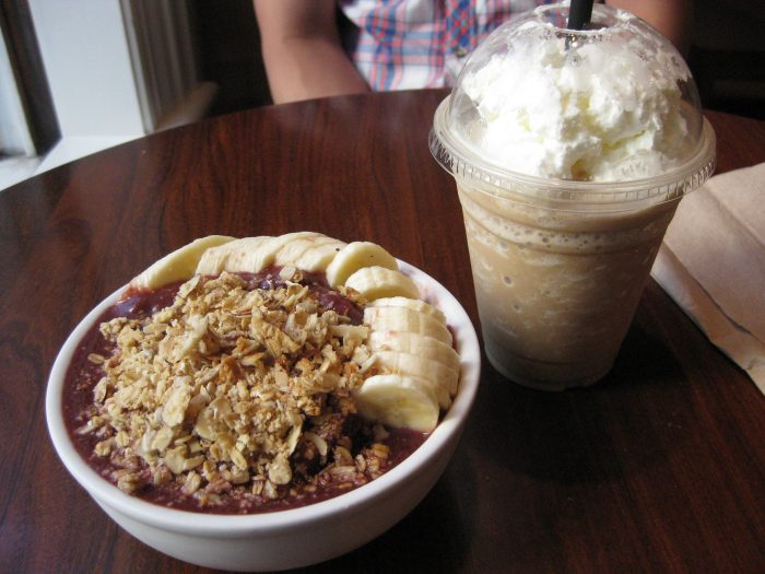 2. Start your day with Kona coffee + an acai bowl.