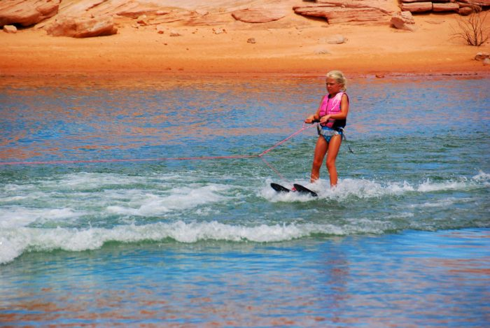 20. Waterskiing at Lake Powell.