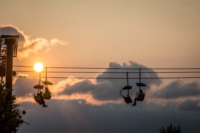 7. The State Fair has some of the best summer views, and a sunset at the fair is always a fantastic view.