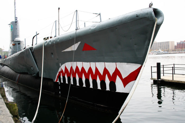 3. I'm sensing a shark-themed pattern. Pictured here is the USS Torsk, which sits in Baltimore's Inner Harbor.