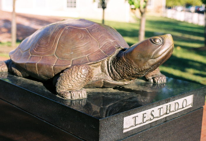 14. Another University of Maryland icon, Testudo the turtle can be found on campus. Students have been known to rub him for luck before exams.