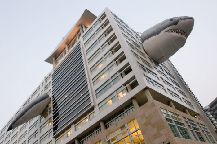 2. Every year during Shark Week, the Discovery Building in Silver Spring adorns their facility with this inflatable beast.