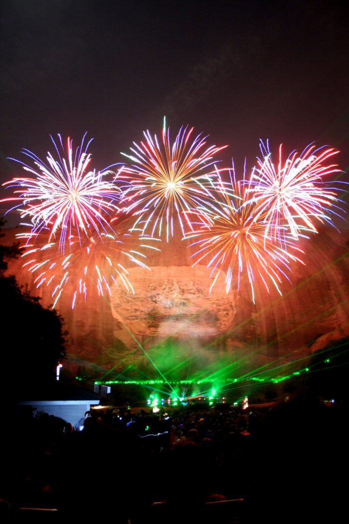 13. Catch the fireworks show at Stone Mountain State Park