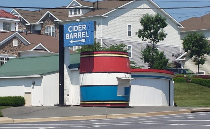 12. The Cider Barrel was built in Germantown in 1922 and travelers flocked to it for a taste of sweet, homemade cider. It's now been closed since 2003.