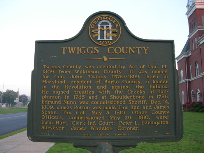 8. The Geographic Center of Georgia is in Twiggs County, 18 miles southeast of Macon.