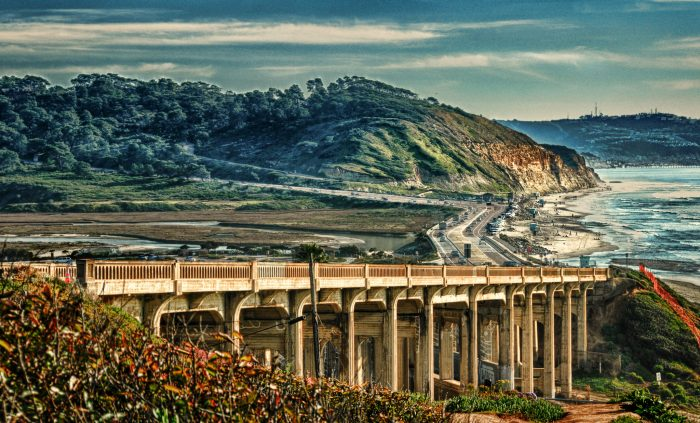 3. This breathtaking landscape captures the view from the North Torrey Pines Bridge in Del Mar.