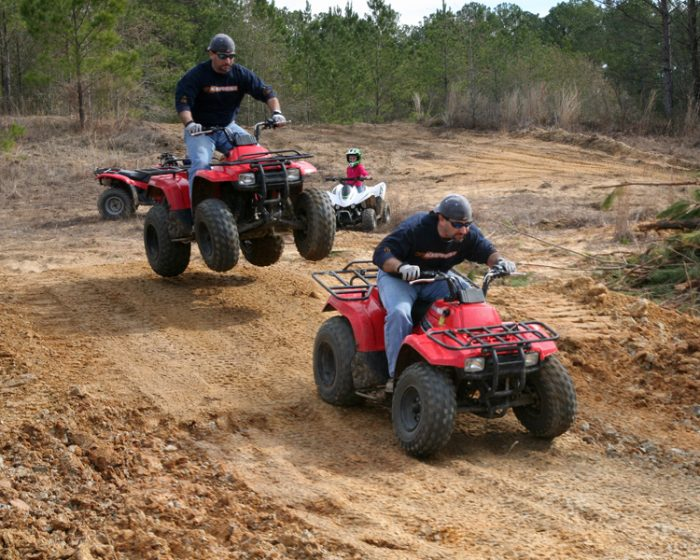4. Tried to jump your four-wheeler.