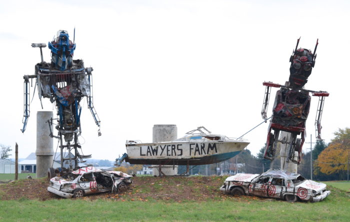 6. In Thurmont you'll find Lawyer's Farm, known for their corn maze, pumpkin cannon, and these real-life transformers!