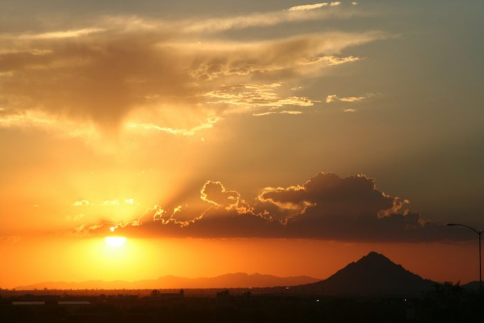 14. Begin wrapping up the day with a view of an Arizona sunset. Is there really anything better than this?