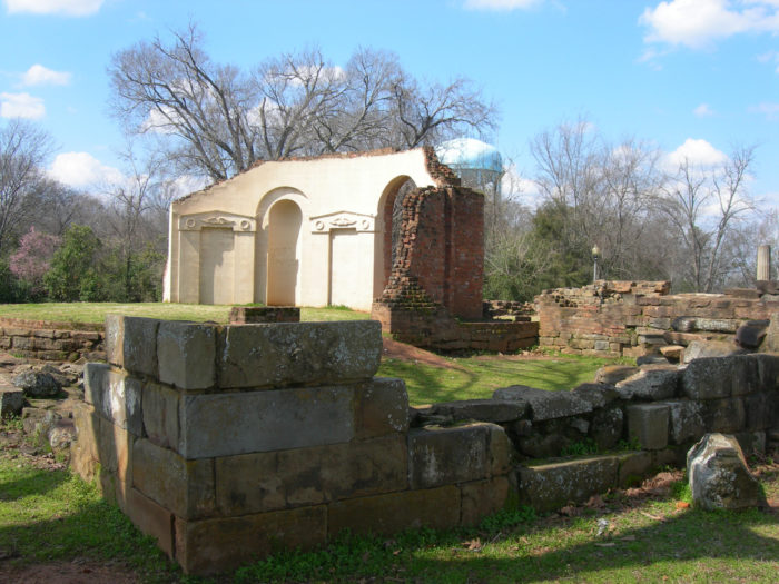 6. Alabama has had a total of five capitals at different times in its history. These capital cities are the following: St. Stephens (1817), Huntsville (1819), Cahawba (1820), Tuscaloosa (1826) and Montgomery (1846). Pictured are the ruins of Tuscaloosa's old capitol building, which burned down in 1923.