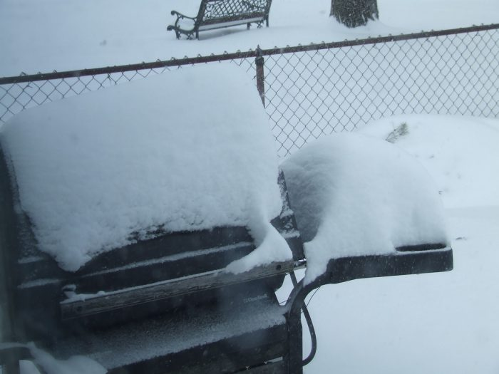 2. It's safe to stay that the snow has FINALLY ceased though, and you can probably keep the grill out.