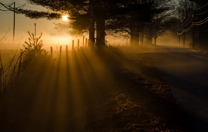12. Early morning rays in Windham.