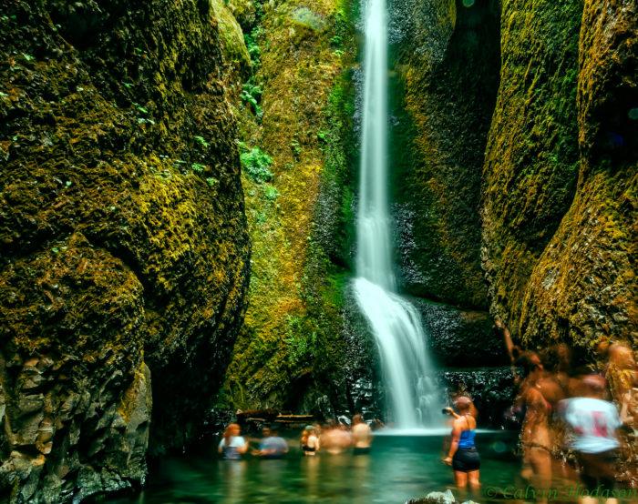 1. Swim in the basin of a waterfall.