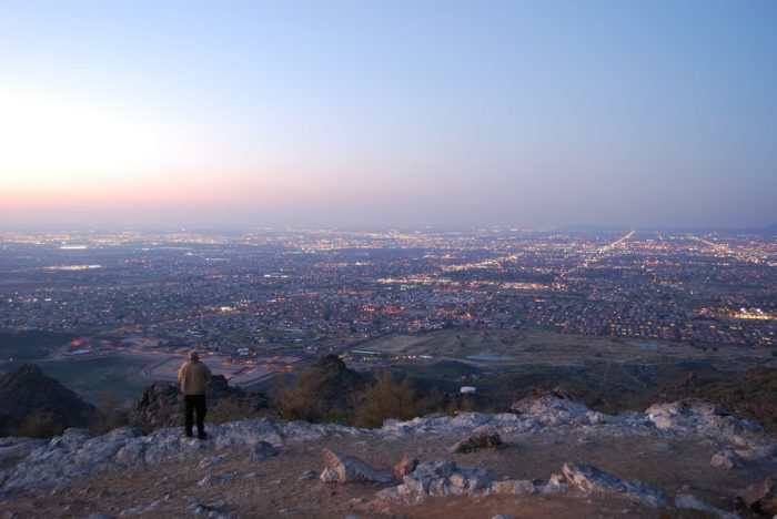 14. The view from South Mountain makes Phoenix look never-ending.