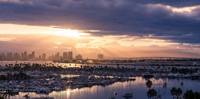 1. Start your day with a beautiful sunrise like this stunner over downtown San Diego.