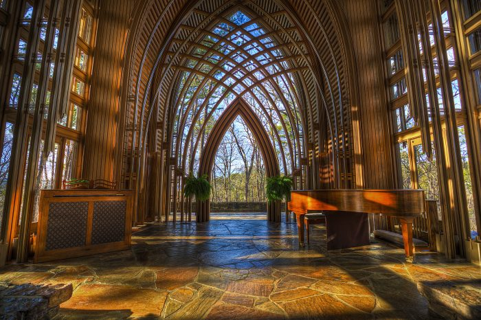 30. Contemplate the divine and consider human ingenuity at Mildred B. Cooper Memorial Chapel.