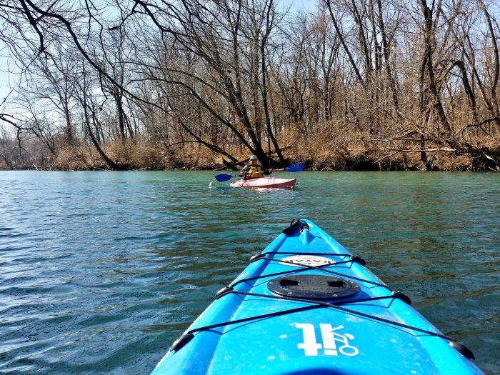 6. Go kayaking on the James River.