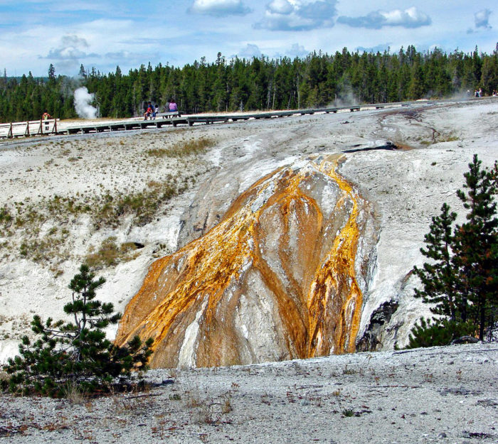 3. The geyser fields In Yellowstone look like a magical cauldron.