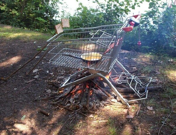 2. Anything can become a grill if you try hard enough.