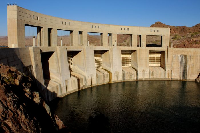 11. Speaking of reservoirs, the deepest dam is Parker Dam which extends down 320 feet.