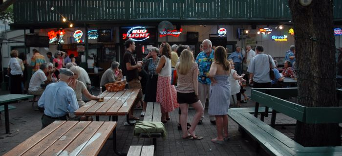 13. Grab a beer, take a seat, and enjoy Scholz Garten massive mingling outdoor patio.
