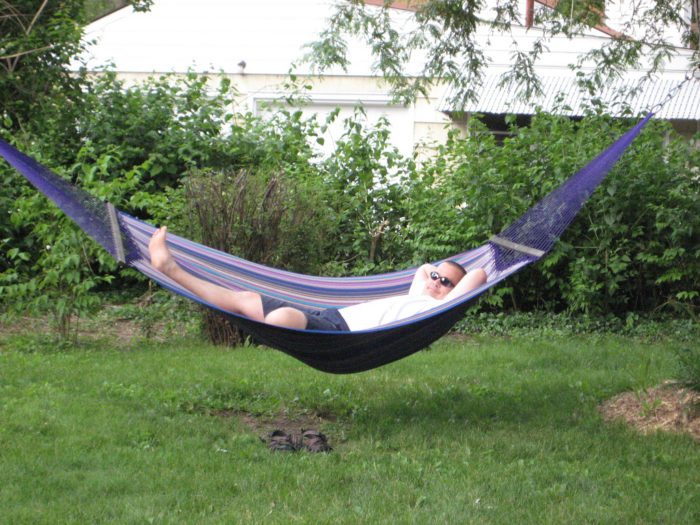 6. Now that you have a full stomach it's time for some down time in the backyard hammock for a few Zs.