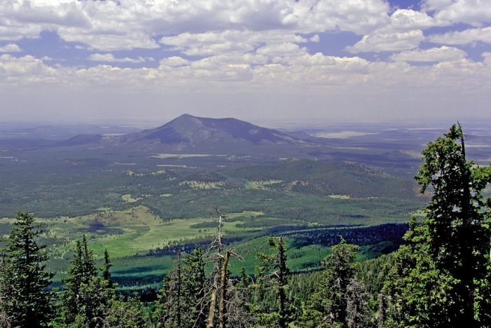 12. Agassiz Peak of Flagstaff's San Francisco Peaks is the highest point in Arizona and offers some beautiful views.