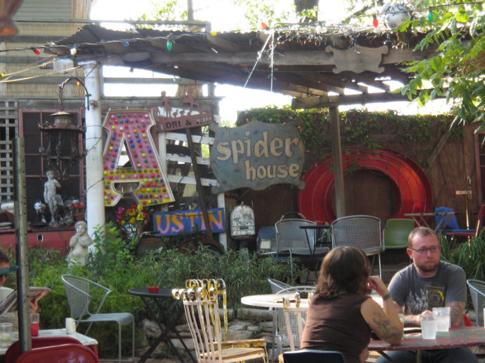 """11. Spiderhouse is one of those """"Keep Austin Weird"""" landmarks. Coolest coffee shop with super strong java, alcohol, good eats, AND a stage for live music and other entertainment. They're open late too!"""