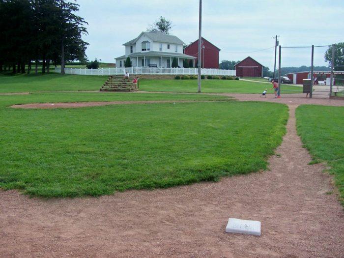 """4. The baseball field from """"Field of Dreams,"""" Dyersville"""