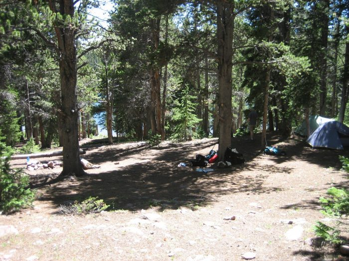 7. Camp in the high Uintas.